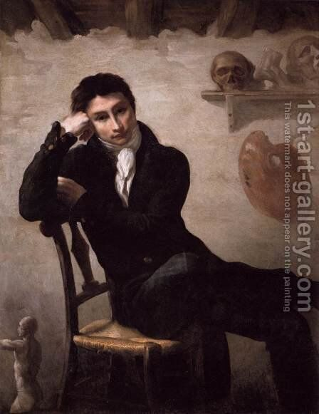 Portrait of an Artist in His Studio 2 by Theodore Gericault - Reproduction Oil Painting