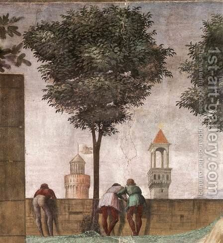 Visitation (detail) 4 by Domenico Ghirlandaio - Reproduction Oil Painting