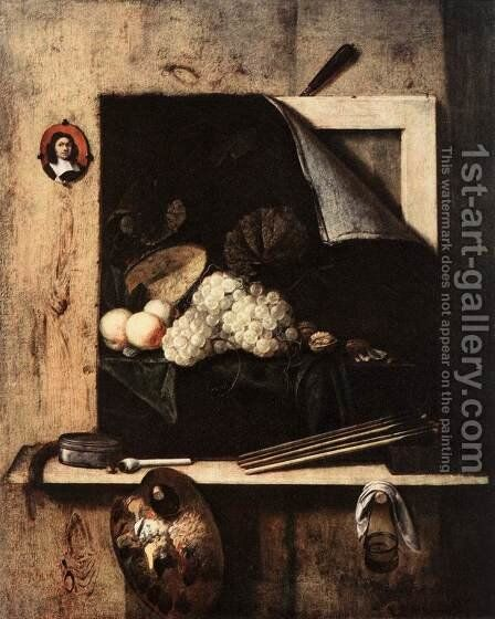 Still-Life with Self-Portrait by Cornelis Gijsbrechts - Reproduction Oil Painting