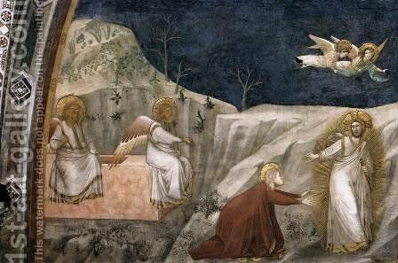 Scenes from the Life of Mary Magdalene Noli me tangere by Giotto Di Bondone - Reproduction Oil Painting