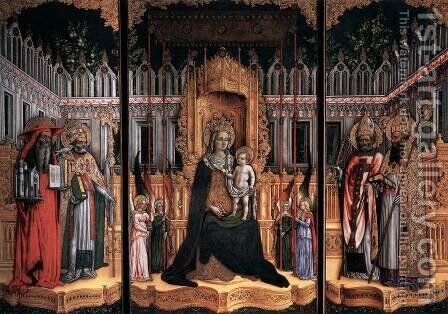 Triptych by Giovanni D'alemagna - Reproduction Oil Painting