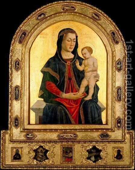 Virgin and Child by Giovanni Da Rimini - Reproduction Oil Painting