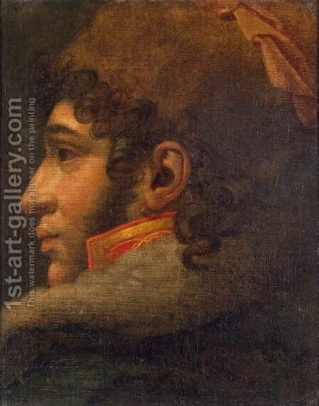 Portrait of Joachim Murat by Anne-Louis Girodet de Roucy-Triosson - Reproduction Oil Painting