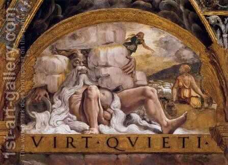 Psyche's Second Task (River Deity) by Giulio Romano (Orbetto) - Reproduction Oil Painting
