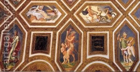 Ceiling decoration (detail) by Giulio Romano (Orbetto) - Reproduction Oil Painting