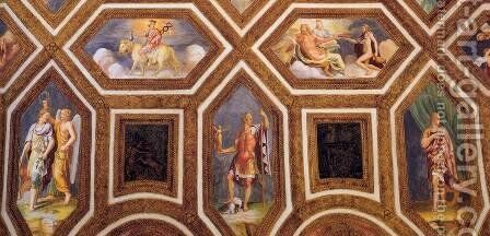 Ceiling decoration (detail) 2 by Giulio Romano (Orbetto) - Reproduction Oil Painting