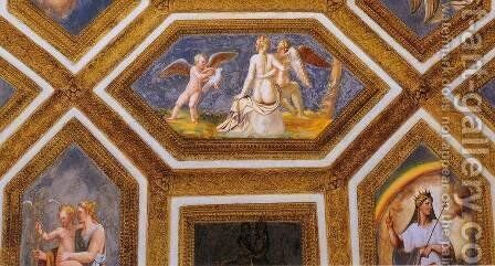 Ceiling decoration (detail) 3 by Giulio Romano (Orbetto) - Reproduction Oil Painting
