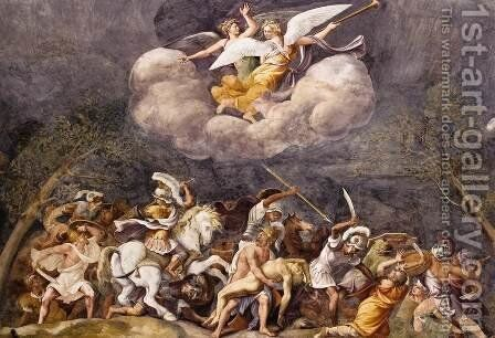 Ajax Defends Patroclus's Corps by Giulio Romano (Orbetto) - Reproduction Oil Painting