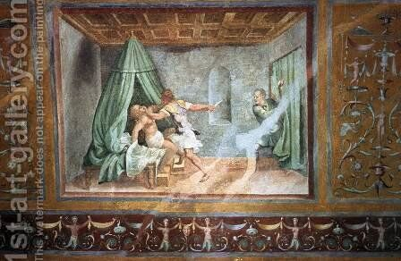 Tarquin and Lucretia by Giulio Romano (Orbetto) - Reproduction Oil Painting