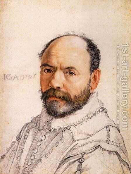 Portrait of the Sculptor Pierre Francheville 2 by Hendrick Goltzius - Reproduction Oil Painting
