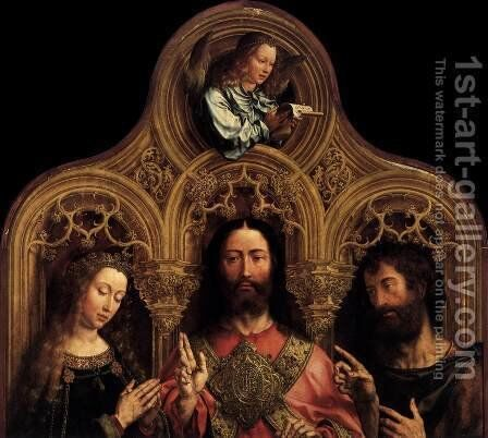 Christ between the Virgin and St John the Baptist by Jan (Mabuse) Gossaert - Reproduction Oil Painting