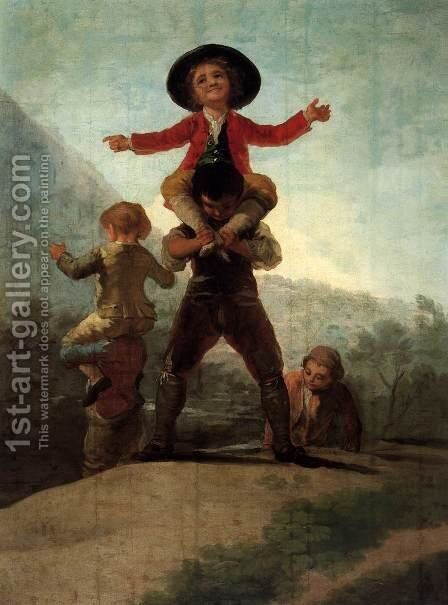 Playing at Giants by Goya - Reproduction Oil Painting