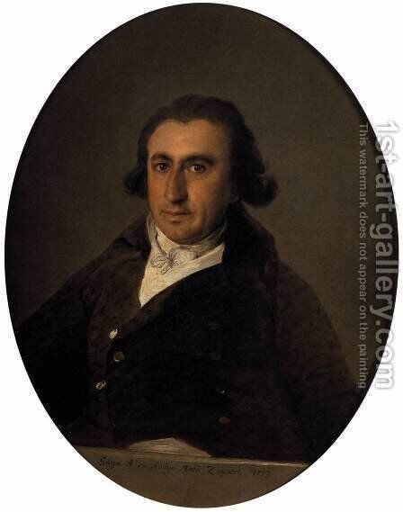 Portrait of Martin Zapater by Goya - Reproduction Oil Painting