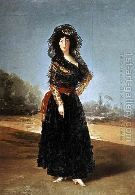 Portrait of the Duchess of Alba 2 by Goya - Reproduction Oil Painting