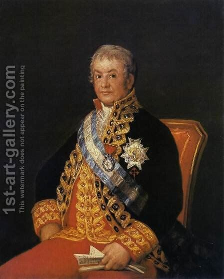 Portrait of Jose Antonio, Marques de Caballero by Goya - Reproduction Oil Painting