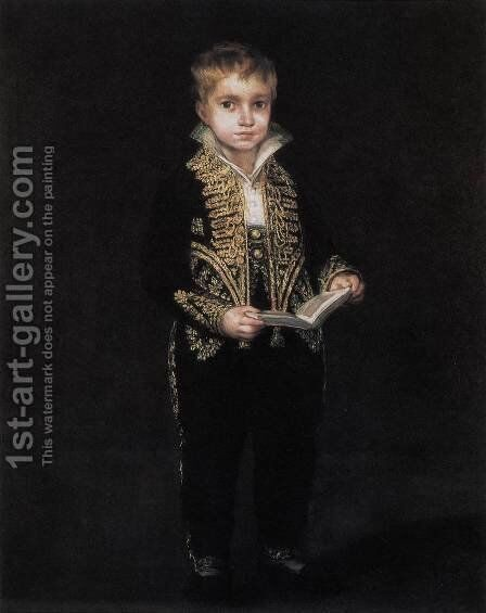 Portrait of Victor Guye 2 by Goya - Reproduction Oil Painting