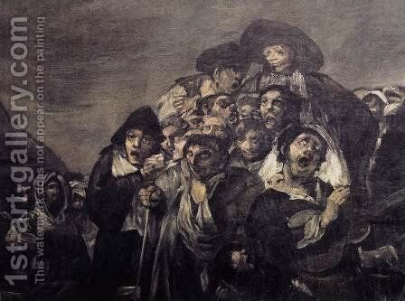 A Pilgrimage to San Isidro (detail) by Goya - Reproduction Oil Painting