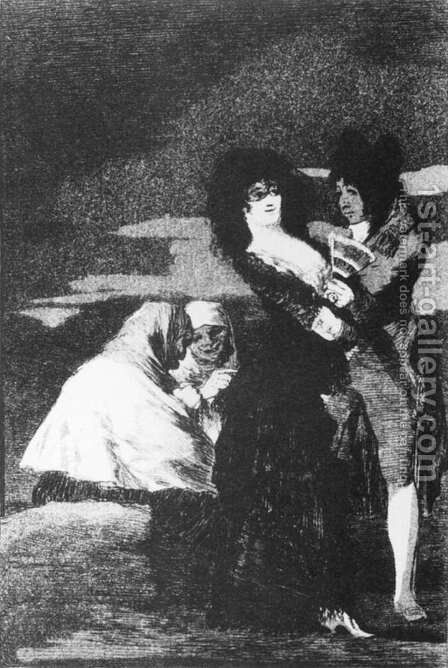Birds of a Feather 2 by Goya - Reproduction Oil Painting