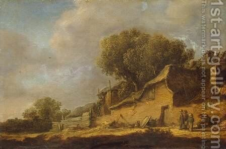 Landscape with a Peasant Cottage by Jan van Goyen - Reproduction Oil Painting