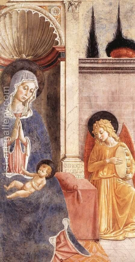 Madonna and Child 2 by Benozzo di Lese di Sandro Gozzoli - Reproduction Oil Painting