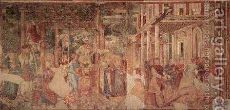 The Vintage and Drunkenness of Noah 2 by Benozzo di Lese di Sandro Gozzoli - Reproduction Oil Painting