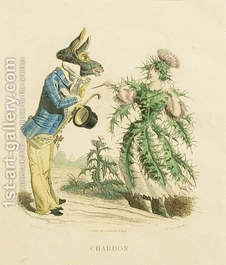 Thistle by Jean-Jacques Grandville - Reproduction Oil Painting