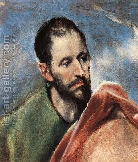 Study of a Man 2 by El Greco - Reproduction Oil Painting