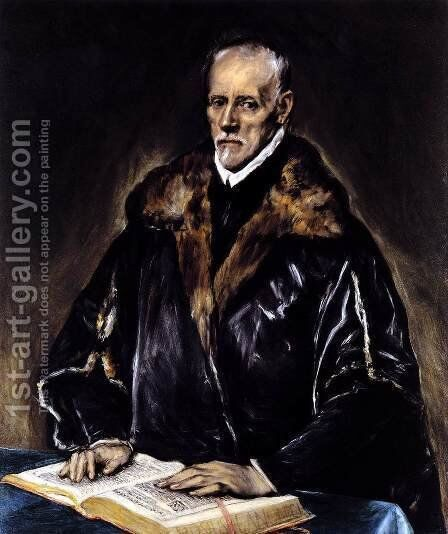 A Prelate 2 by El Greco - Reproduction Oil Painting