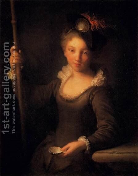 Young Pilgrim Girl by Jean-Alexis Grimou - Reproduction Oil Painting