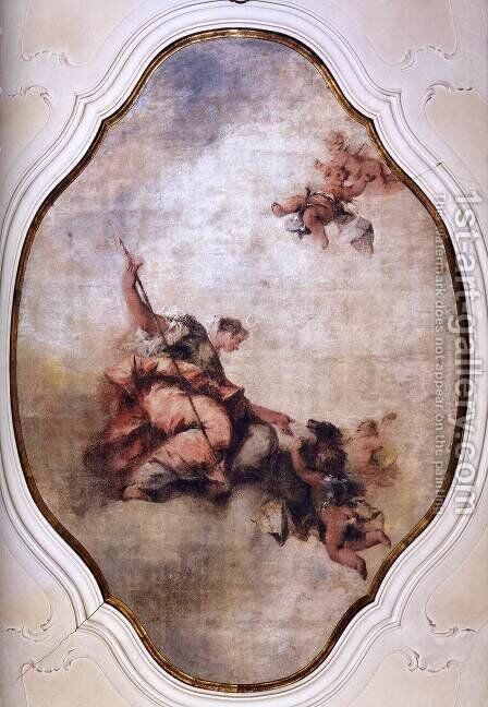 Triumph of Diana by Giovanni Antonio Guardi - Reproduction Oil Painting