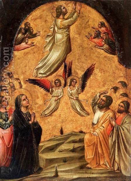 Ascension of Christ by Guariento di Arpo - Reproduction Oil Painting
