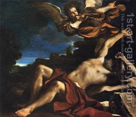 The Vision of St Jerome by Guercino - Reproduction Oil Painting