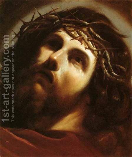 Christ Crowned with Thorns by Guercino - Reproduction Oil Painting