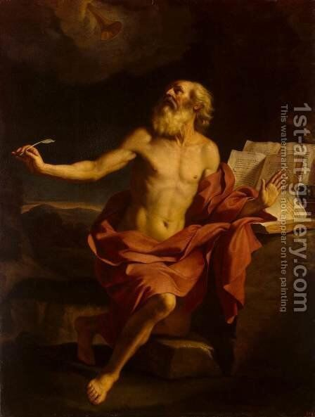 St Jerome in the Wilderness by Guercino - Reproduction Oil Painting