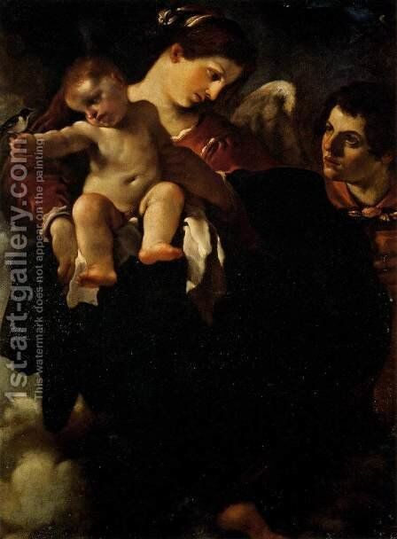 Madonna of the Swallow by Guercino - Reproduction Oil Painting