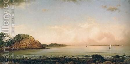 Spouting Rock, Newport by Martin Johnson Heade - Reproduction Oil Painting