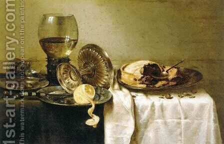 Still-Life 3 by Willem Claesz. Heda - Reproduction Oil Painting
