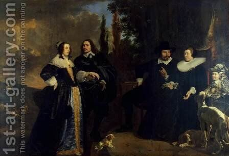 Portrait of a Family by Bartholomeus Van Der Helst - Reproduction Oil Painting