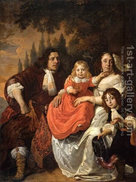 The Reepmaker Family of Amsterdam by Bartholomeus Van Der Helst - Reproduction Oil Painting