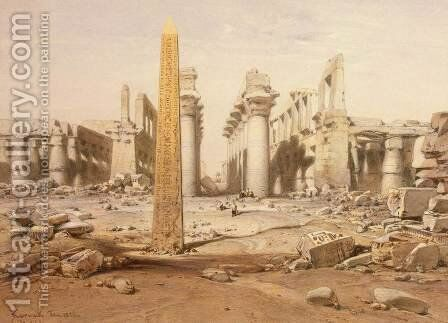View of the Ruins of the Temple of Karnak by (after) Hildebrandt, Eduard - Reproduction Oil Painting