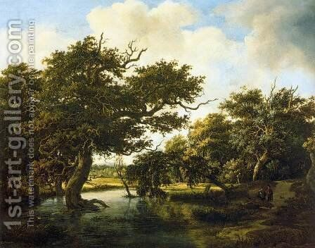 Marshy Wood by Meindert Hobbema - Reproduction Oil Painting