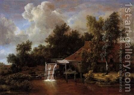 A Watermill by Meindert Hobbema - Reproduction Oil Painting