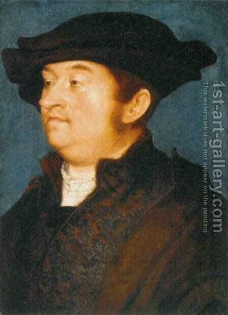 Portrait of a Man by Hans, The Elder Holbein - Reproduction Oil Painting