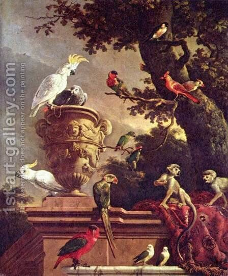 The Menagerie 2 by Melchior de Hondecoeter - Reproduction Oil Painting