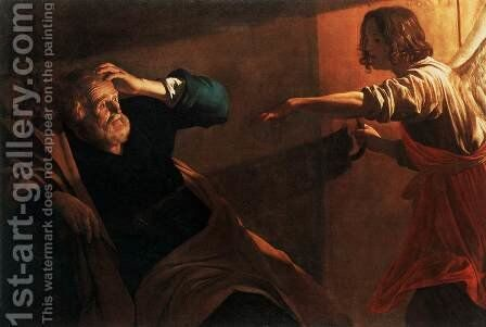 The Liberation of St Peter by Gerrit Van Honthorst - Reproduction Oil Painting
