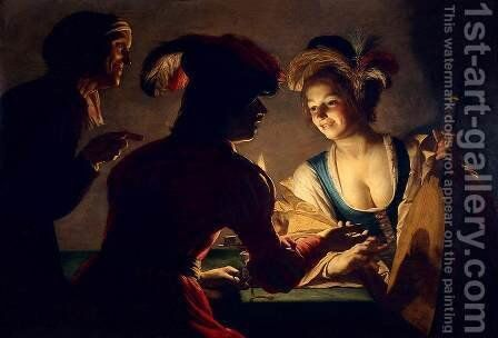 The Procuress by Gerrit Van Honthorst - Reproduction Oil Painting