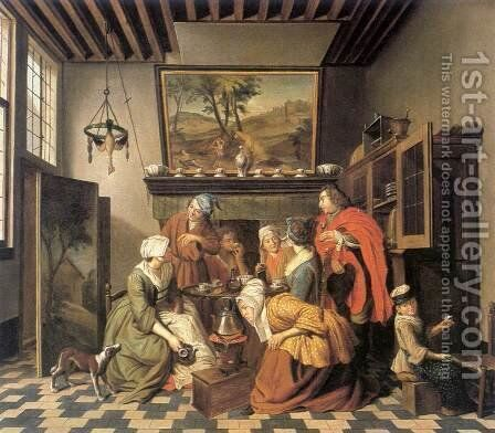 Tea Time 2 by Jan Jozef, the Younger Horemans - Reproduction Oil Painting