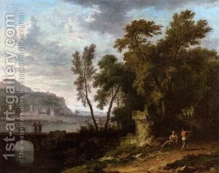 Landscape with Ruin and Bridge by Jan Van Huysum - Reproduction Oil Painting