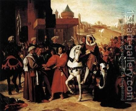 The Entry of the Future Charles V into Paris in 1358 2 by Jean Auguste Dominique Ingres - Reproduction Oil Painting