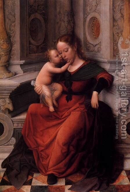 Virgin and Child by Adriaen Isenbrandt (Ysenbrandt) - Reproduction Oil Painting